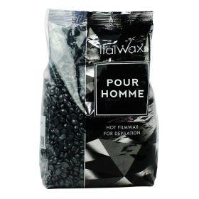Italwax tvrdý depilační vosk Pour homme black 1KG