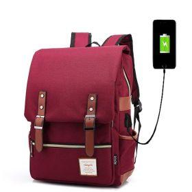 RETRO Textilní batoh s USB portem Brodový