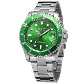 Pánské mechanické hodinky Winner WZ0308 Zelené