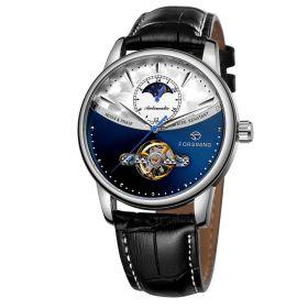 FORSINING pánské automatické hodinky Moonlight 9M3S3 Modré