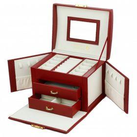 STENBERG kufřík na šperky šperkovnice Elen Bordó
