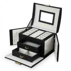 Elen kufřík na šperky šperkovnice Černá