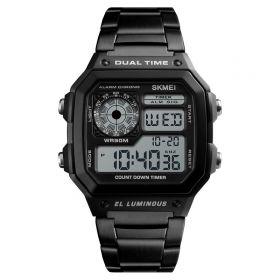 Skmei 1335  Digitální hodinky Dual Time Černé