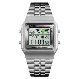 Skmei 1338  Digitální hodinky Explorer Stříbrné