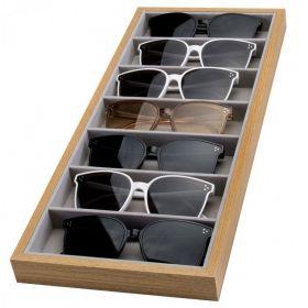 Odkládací Box na brýle 7ks Dřevěný