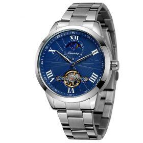 FORSINING pánské automatické hodinky Mellow G818 Modré