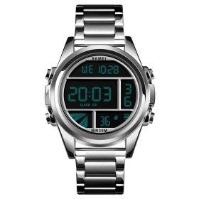 Skmei 1448 celokovové digitální hodinky Cells Stříbrné