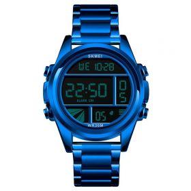 Skmei 1448 celokovové digitální hodinky Cells Modré