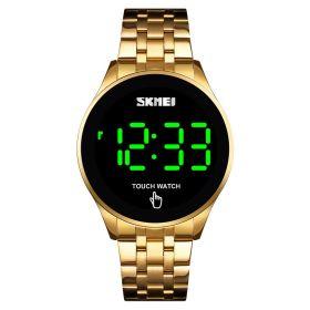 Skmei 1579 celokovové LED hodinky Touch Me Zlaté