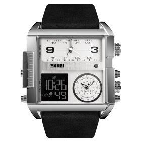 SKMEI 1391 duální hodinky 3 times Silver Černé
