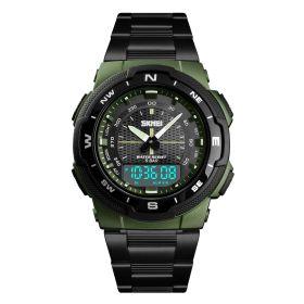 Skmei 1370  pánské duální hodinky Passager Zelené