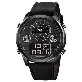 SKMEI 1653 duální hodinky Big Face Černé