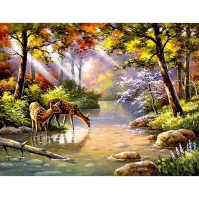 Painting Diamantové malování 40 x 30 Cm Srnky