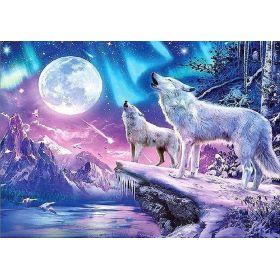 Painting Diamantové malování 40 x 30cm  Vyjící vlci