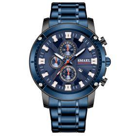 Smael 9153 Pánské analogové hodinky Modré