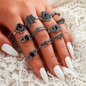 Sada Bohém prstenů Antique 11ks Anfisa