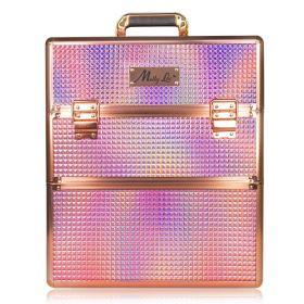 Mollylac dvoupatrový kosmetický kufr XXL Rose