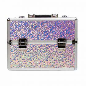 DIAMOND kosmetický kufr XL Holo Pink