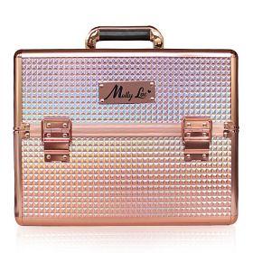 MollyLac kosmetický kufr XL na laky Rosegold