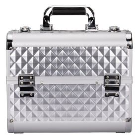 Diament kosmetický kufřík L Stříbrný
