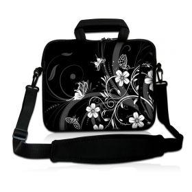 """Huado taška přes rameno 17.4"""" Květiny a motýlci"""